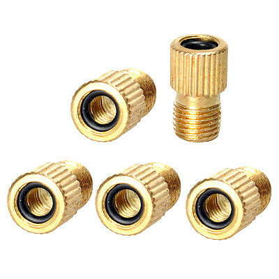 5 x PRESTA TO SCHRADER VALVE ADAPTER CONVERTER ROAD BIKE CYCLE BICYCLE PUMP TUBE