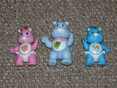 Vintage 1980s Kenner Care Bears Poseable Grams, Hugs & Tugs Figure Lot