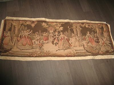 "Antique Jacquard Tapestry made in Belgium Large 20"" x 58"""