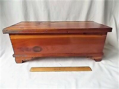 "Vintage Miniature Cedar Blanket Chest Trunk Unusual 19"" Size"