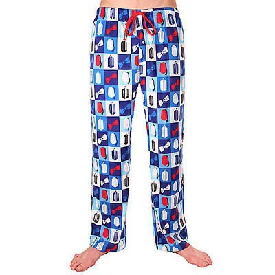 NEW Mens Doctor Who Fez and Bow Tie Sleep Lounge Pants L Large PJ Bottoms