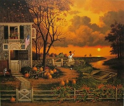 """Charles Wysocki Supper Call S And N With Cert Image Size 17"""" x 20"""""""