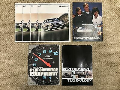 VINTAGE AUTHENTIC 1985 Mustang Performance Literature & lot of 4 dealer brochure