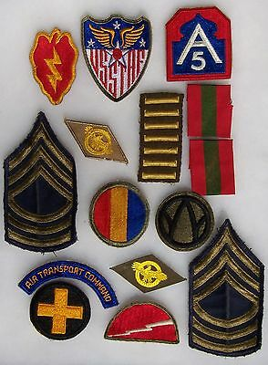 Group Of 15 Ww 2 U.s. Army Patches Lot 4