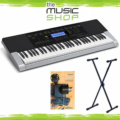Casio CTK4400 61 Note Electronic Keyboard with Stand & Power Supply - CTK-4400