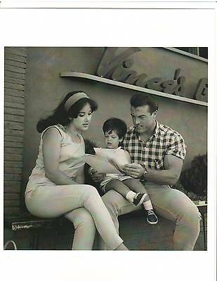 DON PETERS ,Wife,Son, Vince's Gym Bodybuilding Muscle Photo B+W