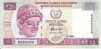 Cyprus, 2003 5 Pounds P61b ((Gem Unc))