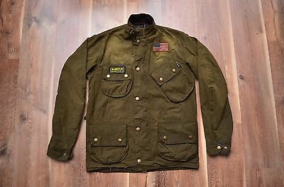 Barbour International Steve McQueen Sunblast Wax Motorcycle M Rare