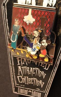 Disney pin WDW Haunted Attraction Mansion Doom Buggy Goofy Mickey Donald LE 1000
