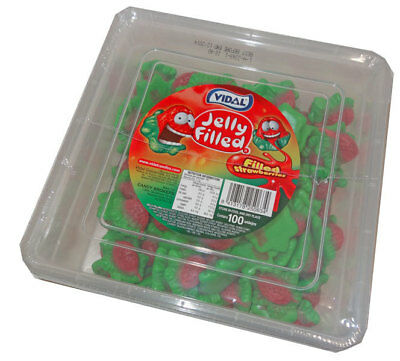 Vidal Jelly Filled Strawberries (100 pieces - 770g tub)