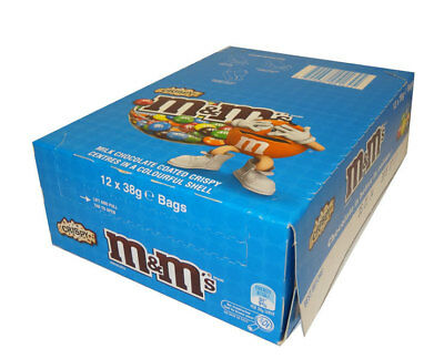 M&M Crispy (12 x 38g bags in a Display)