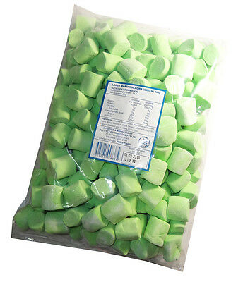 Large Green Marshmallows (extruded) (1kg bag)