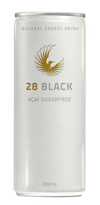 28 Black Energy Drink - ACAI Sugar Free (12 x 250ml Cans in a Display Unit)
