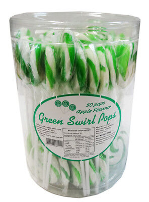 Swirl Pops - Green (50 x 15g pops in a tub)