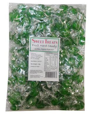 Sweet Treats Fruit Hard Candy - Green (1kg bag)