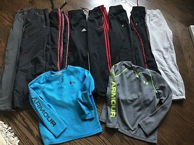 Under Armour Addidas Nike Boys Clothes size 10 12 a lot