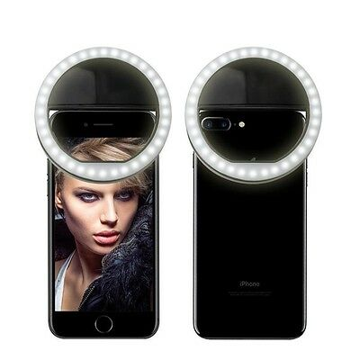 Selfie Portable LED Ring Fill Light Camera Photography for iPhone Android Phone!