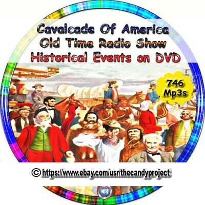 Cavalcade Of America Old Time Radio Show Historical Events Stories 746 MP3 DVD