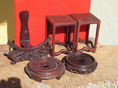 A1463 Lot of 5 Vintage Wood Stands