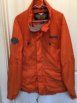 Harley Davidson Rain Suit with Jacket and Bib Overalls Men's Large