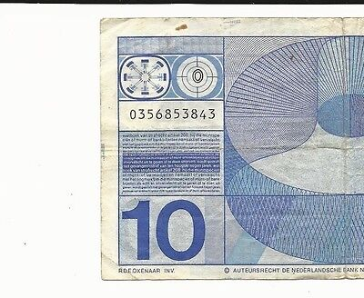 "Netherlands 10 Gulden ""0"" in Bullseye SN3843"