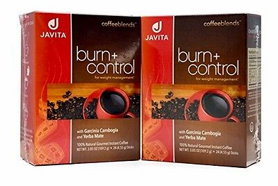 JAVITA Coffee Burn + Control Bundle of 2 Boxes New