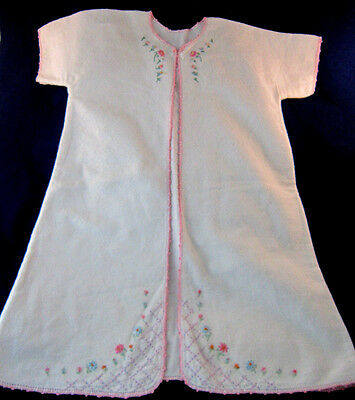 vintage baby kamona/sleeper/nightgown embroidered approx. 3 months