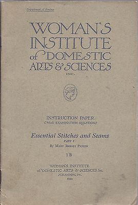 Lot of 2 WOMAN'S INSTITUTE OF DOMESTIC ARTS 1921
