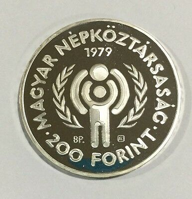 1979 Hungary Proof Silver 200 Forint (Ketszaz) Year of the Child FREE SHIP