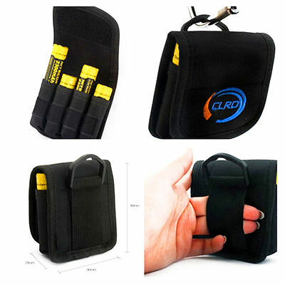 Pouch For 4 x 18650 Battery Carry Case Nylon Holster Pouch Strap Belt Clip