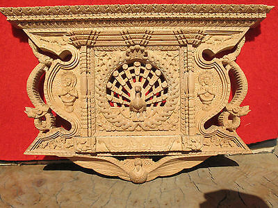 A1464 Finely Detailed Nepalese Wood Carving