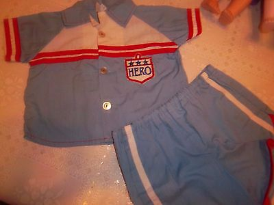 """""""vintage"""" Baby Boy 2 Piece Red/white And Blue Shorts And Top 3-6 Months...4.99"""
