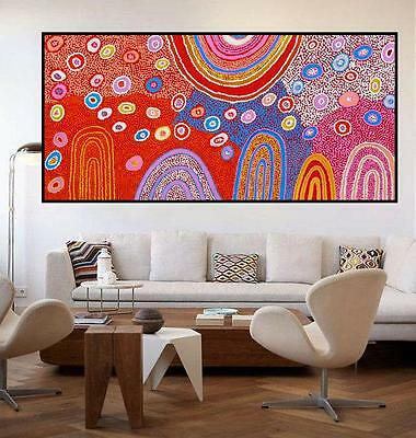 Huge 200cm by 100cm  Aboriginal style painting aboriginal art by Anna Narnina