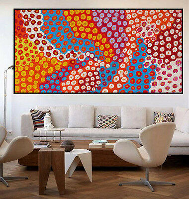 130cm by 70cm Huge contemporary abstract dot paintingpainting by Judy Narnina
