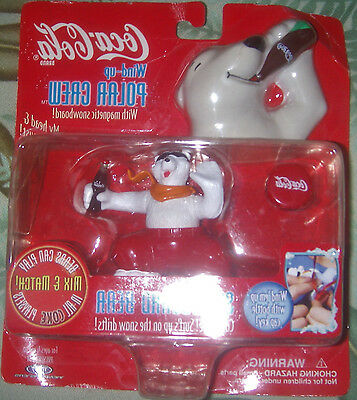 COCA COLA Wind Up Polar Bear Crew (4) 1998 Figurines New in Package