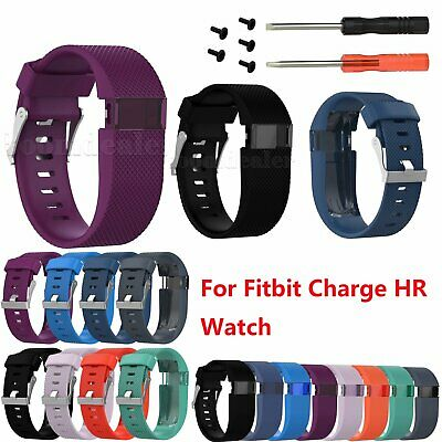Replacement Silicone Wrist Watch Band Sports Strap For Fitbit Charge HR Watch