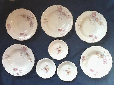 8 Pc. Lot - 1910-1918 LS & S Carlsbad BERRY BOWLS  & BUTTER PATS - Austria Roses