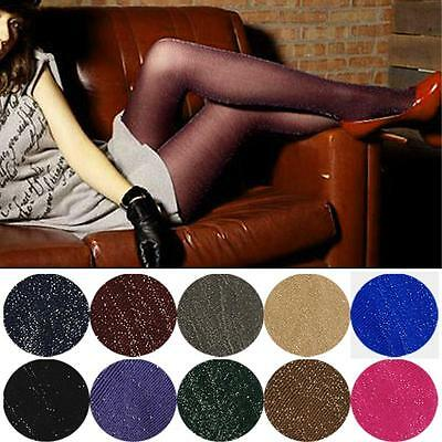 Womens Glitter Shimmer Sheer Shiny Pantyhose Opaque Stockings Tights Hosiery