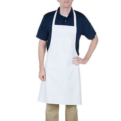 24 New White Bib Aprons Waiter Kitchen Cafe  Chef Catering Cooking Sale!!!
