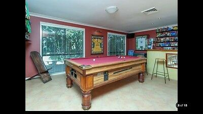 Pub Style Pool Table With Ball Return and Accessories