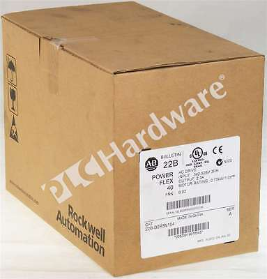 New Sealed Allen Bradley 22B-D2P3N104 /A 2012 PowerFlex 40 AC Drive 480V 1HP