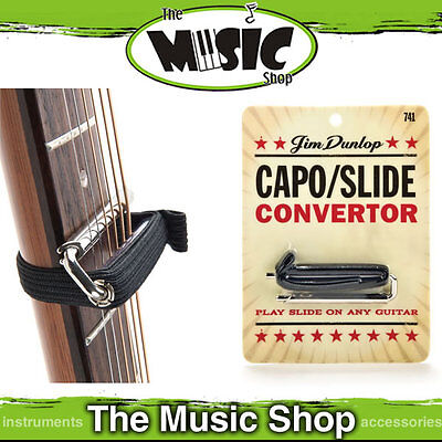 New Jim Dunlop J741 Capo/Slide Converter - Raises String Height for Slide Guitar