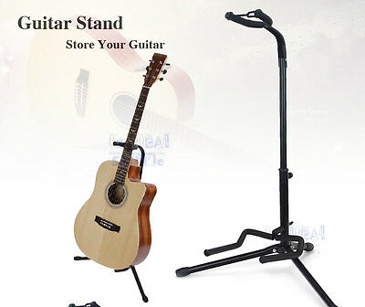 Portable Guitar Stand Pro Folding Electric Acoustic Bass Tripod Rack Holder