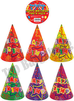 10pcs Colorful Paper Cone Hats Fun Game Kids Exciting Happy Birthday Party