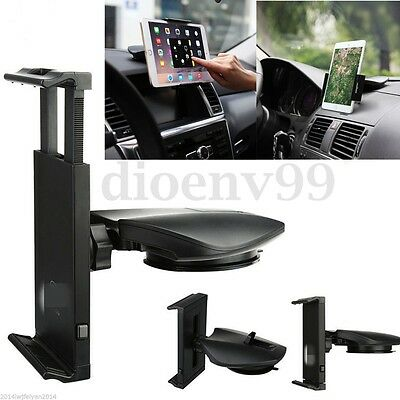 AU 360° Rotatable Car Mount Holder Dash Suction Stand For iPad &7-10 inch Tablet