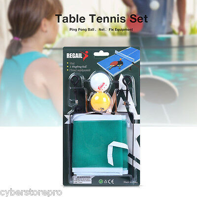 REGAIL Training Competition Ping Pong Ball Net Fix Equipment Table Tennis Set