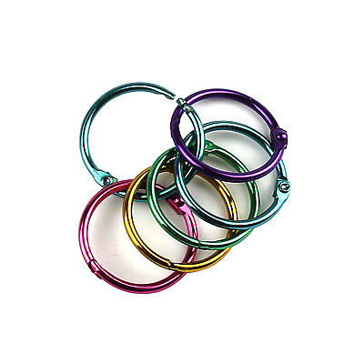 "25 Pieces Multicolor Metal Book Rings 1"" Loose Leaf Binder Rings TO505"