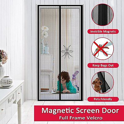 Easylife Magnetic Screen Door Extreme Tough Velcro Mesh Curtain Mosquitoes Out