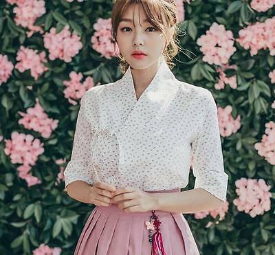 Hanbok Traditional Korean Dress (cherry all-over) Party *ONLY TOP jeogori