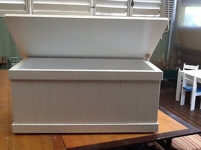 Children's Wooden Toy Box/Blanket Storage Box